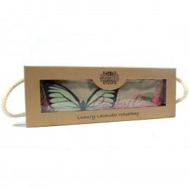 Bolsa de Trigo Relajante en Caja de Regalo Mariposas y Rosas