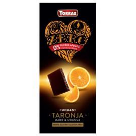 Chocolate ZERO Sin Azúcar Negro con Naranja Sin Gluten Convencional 125g