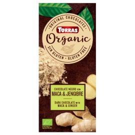 Chocolate Orgánico con Maca y Ginger Sin Gluten Bio 100g