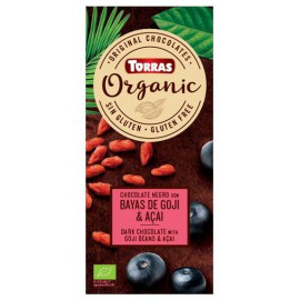 Chocolate Orgánico con Goji y Acai Sin Gluten Bio 100g