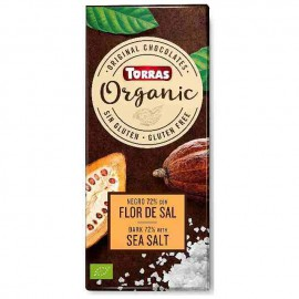 Chocolate Orgánico Negro 70 % Cacao con Flor de Sal Bio 100g