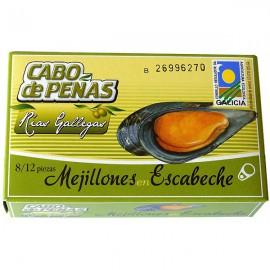 Mejillon en Escabeche 8-12 Piezas con Aceite de Oliva Bio 111g