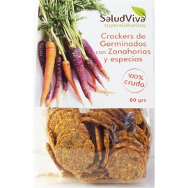 Cracker de Germinados con Zanahoria y Especies 80 gr