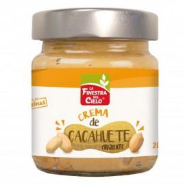 Crema de Cacahuetes Crunchy Bio 200g La Finesta