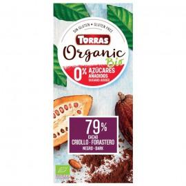 Chocolate Orgánico Sin Azúcar Negro 79% Bio 100g