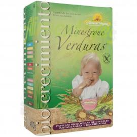 Papilla Biocrecimiento Minestrone de Verduras Sin Gluten Bio 400g