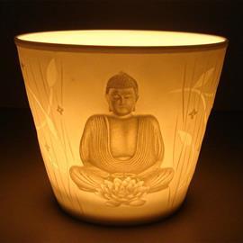 Iluminación Ambiental Vaso para Vela Buda 7cm