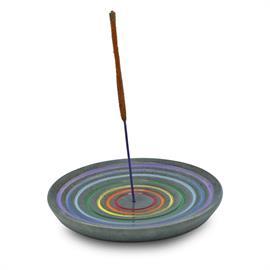 Quemador de Incienso Arco Iris de Esteatita 10cm