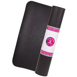 Estera de Caucho Natural Negra para Yoga 1800g 60X185 cm