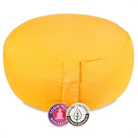 Cojín de Meditación Amarillo de Algodon Orgánico 33X17cm