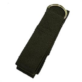 Cinturón de Yoga con Hebilla D Negro de Algodón 183X4 cm