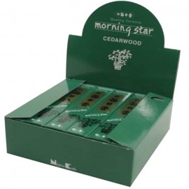 Incienso Japonés Morning Star Madera de Cedro 50 Barritas 20g