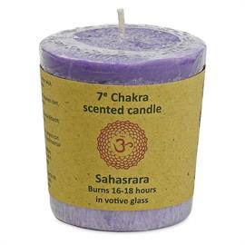 Vela Votiva Perfumada 7mo Chakra Sahasrara