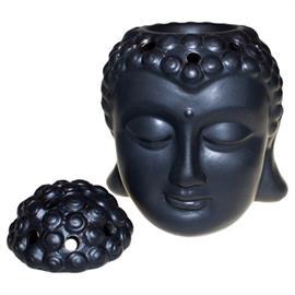 Quemador de Aceites Esenciales Buda Negro