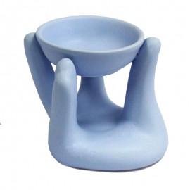 Quemador de Aceites Esenciales Mano Azul