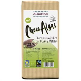 Chocolate Negro 72% con Algas Ulva y Menta Bio 100g