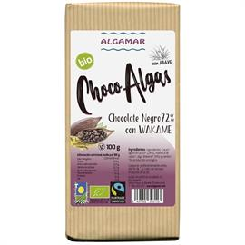 Chocolate Negro 72% con Algas Wakame Bio 100g