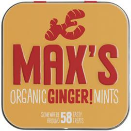 Max's Mint Jengibre Bio 35g