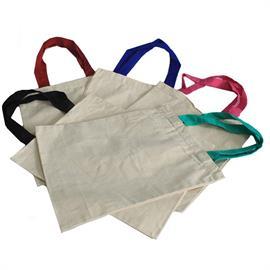 Bolsa de Algodón Ecológico de Asa Clásica Multicolor 35X30cm