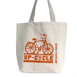 Bolsa de Algodón Ecológico Bicicleta 42x11x39cm