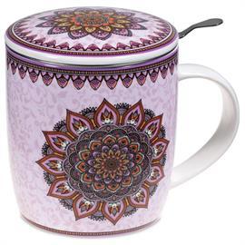 Juego de Tazá de Té Mandala Violeta
