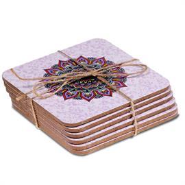 Posavasos Mandala Púrpura Set de 6