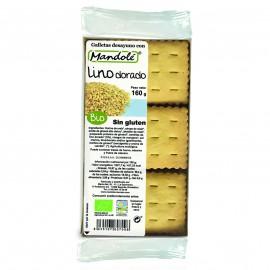 Galletas de Lino Dorado Sin Gluten Bio 160g