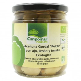 Aceituna Gordal Pelotín con Ajo Limón y Tomillo Bio 350g