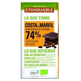Chocolate Negro 74% Costa de Marfil Bio 100g