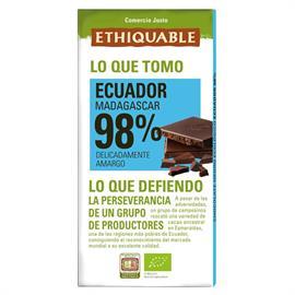 Chocolate Negro 98% Ecuador Bio 100g