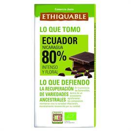Chocolate Negro 80% Ecuador Bio 100g