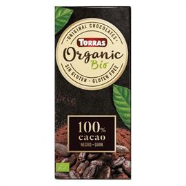 Chocolate Orgánico 100% Cacao Bio 100g