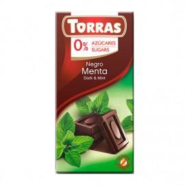 Chcocolate Negro con Menta Sin Azúcar Classic Convencional 75g