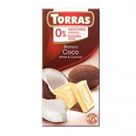Chcocolate Blanco con Coco Sin Azúcar Classic Convencional 75g