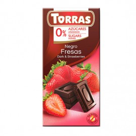 Chcocolate Negro con Fresas Sin Azúcar Classic Convencional 75g