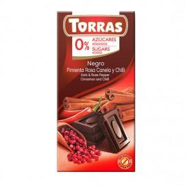 Chcocolate Negro con Pimienta Canela y Chili Sin Azúcar Classic Convencional 75g