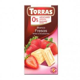 Chcocolate Blanco con Fresas Sin Azúcar Classic Convencional 75g