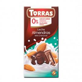 Chcocolate con Leche y Almendras Sin Azúcar Classic Convencional 75g