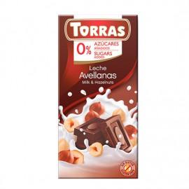 Chcocolate con Leche y Avellanas Sin Azúcar Classic Convencional 75g