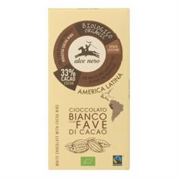 Tableta de Chocolate Blanco con Pepitas de Cacao Bio 100g