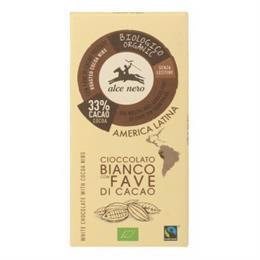 Tableta de Chocolate Blanco con Pepitas de Cacao Bio 100g