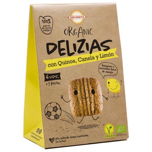 Mini Delizias de Quinoa con Canela y Limón Bio 45g