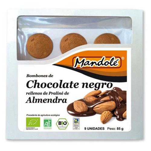Bombones de Chocolate Negro y Praliné de Almendra Bio 85g