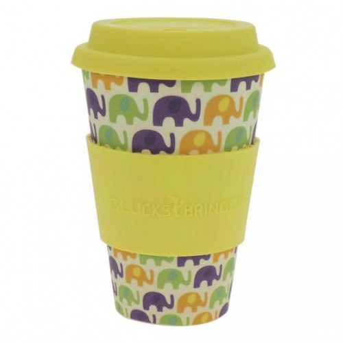 Vaso de Bambú Amarillo Elephant Love 400ml