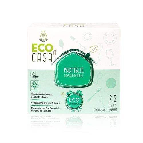 Detergente para Lavavajillas en Pastillas Eucalipto y Menta Bio ECO di CASA 25tabs