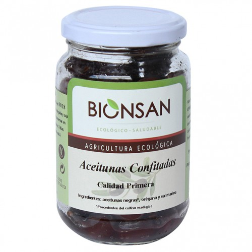 Aceituna Negra Confitada Bio 200g