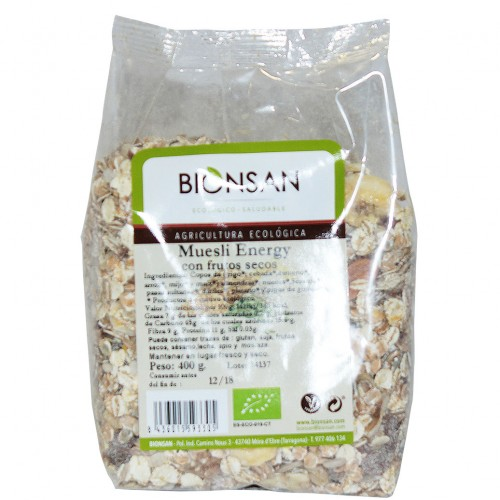 Muesli Energy con Frutos Secos Bio 400g
