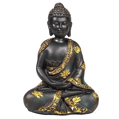 Estatua Buda de la Meditación con Acabado Antiguo