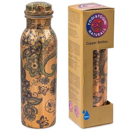 Botella de Cobre Diseño Cachemira 750ml