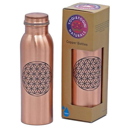 Botella de Cobre Flor de la Vida 750ml